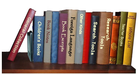 eBook libraries book shelf - select a book to see the library list